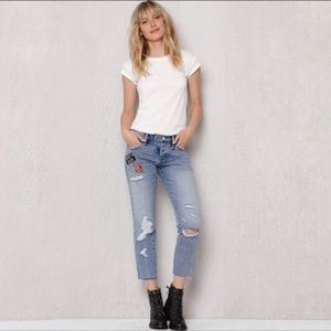 Pacsun Girlfriend Bored to Death Patch Jeans 25
